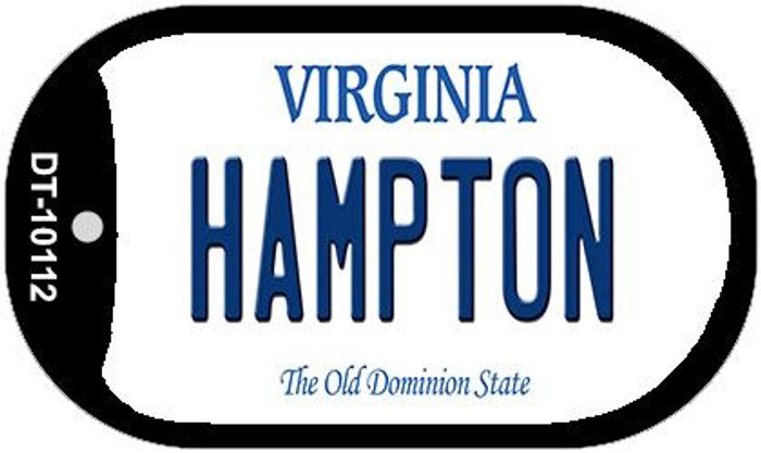 Hampton Virginia Novelty Metal Dog Tag Necklace DT-10112