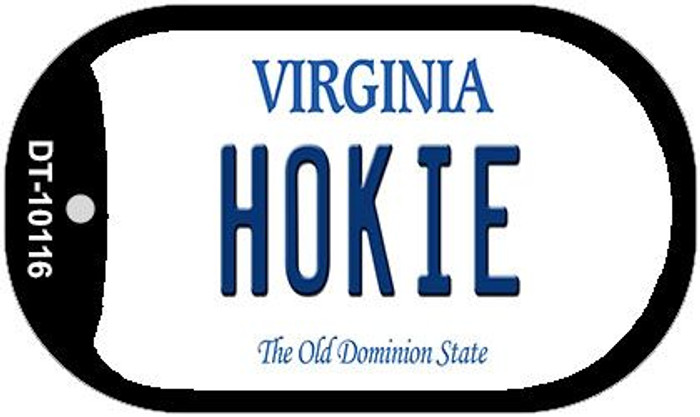 Hokie Virginia Novelty Metal Dog Tag Necklace DT-10116