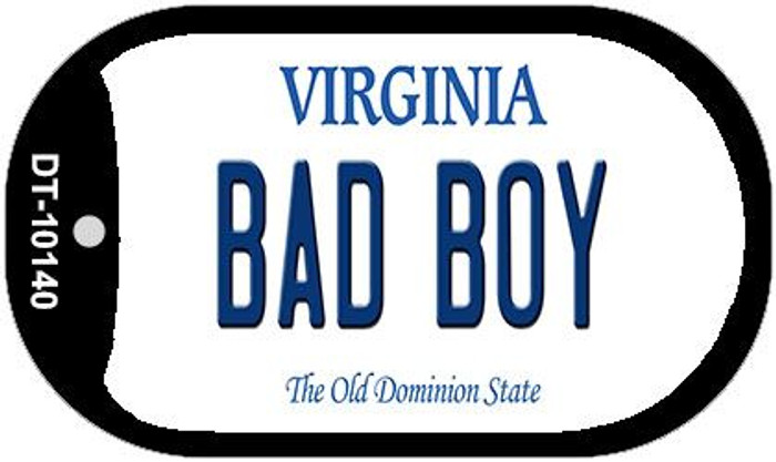 Bad Boy Virginia Novelty Metal Dog Tag Necklace DT-10140