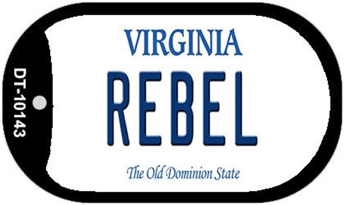 Rebel Virginia Novelty Metal Dog Tag Necklace DT-10143