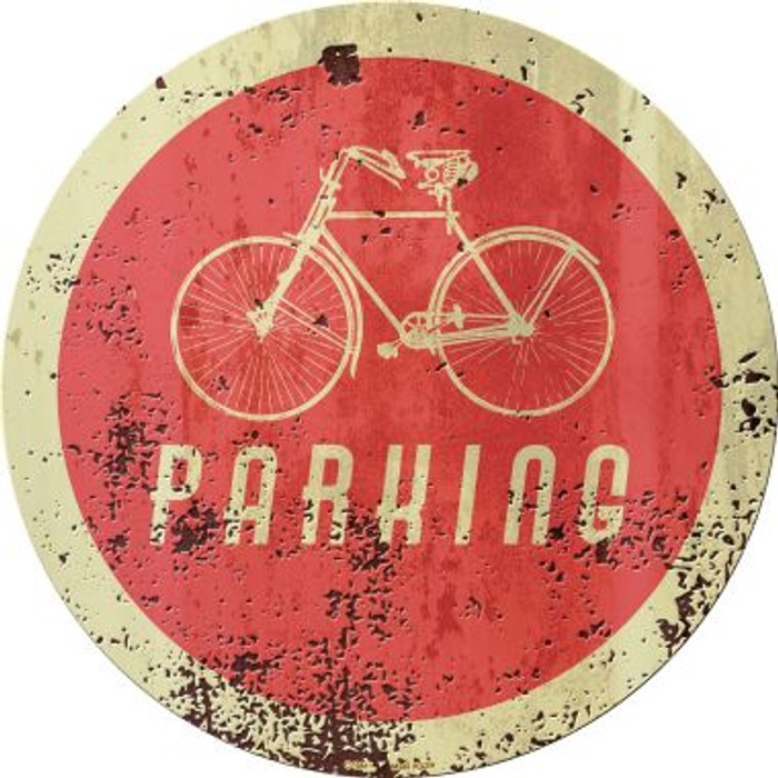 Bicycle Parking Novelty Metal Circular Sign C-1081