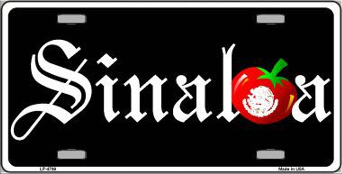 Sinaloa Metal Novelty License Plate LP-4789