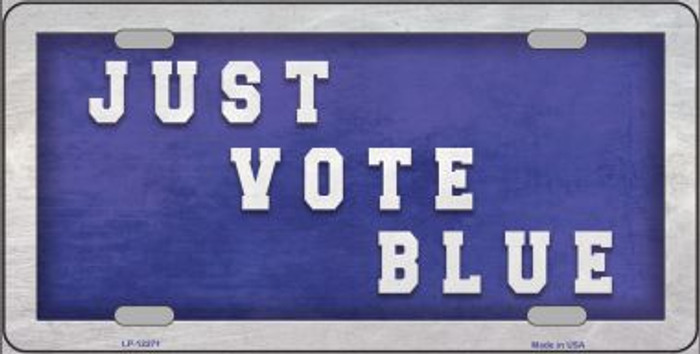 Just Vote Blue Novelty Metal License Plate LP-12271