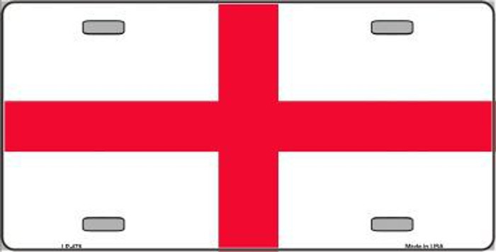England Flag Metal Novelty License Plate LP-479