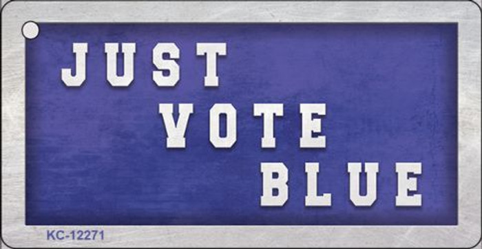 Just Vote Blue Novelty Metal Key Chain KC-12271