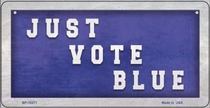 Just Vote Blue Novelty Metal Bicycle Plate BP-12271