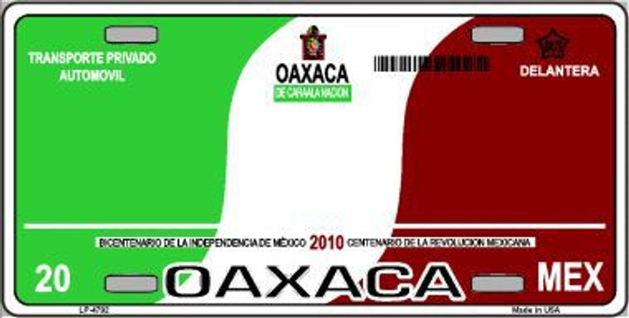 Oaxaca Mexico Novelty Background Metal License Plate LP-4792