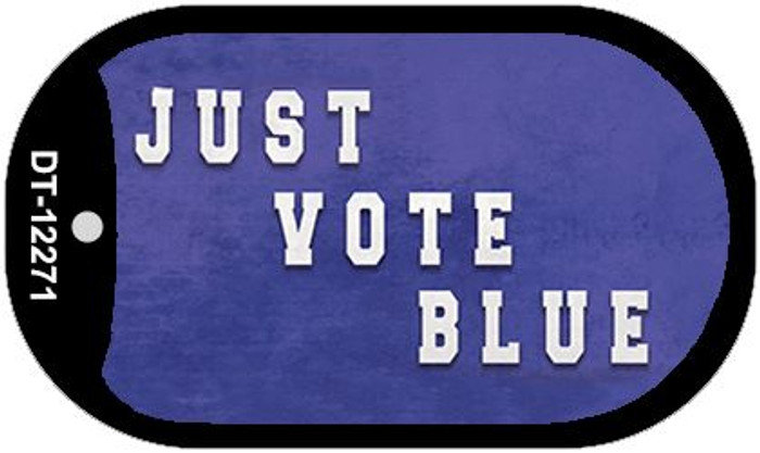 Just Vote Blue Novelty Metal Dog Tag Necklace DT-12271