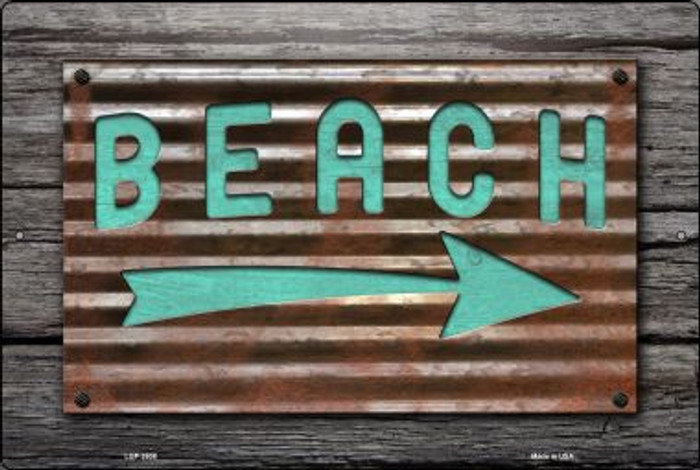 Beach That Way Novelty Metal Large Parking Sign LGP-2608
