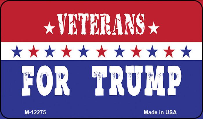 Veterans For Trump Novelty Metal Magnet M-12275