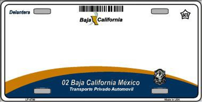 Baja California Novelty Background Metal License Plate LP-4799