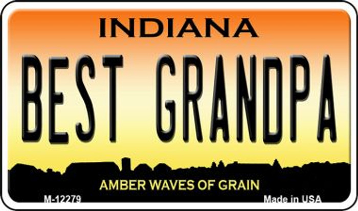 Best Grandpa Indiana Novelty Metal Magnet M-12279