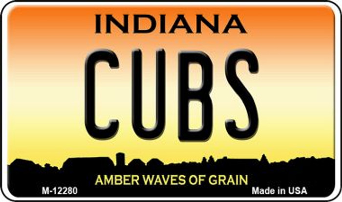 Cubs Indiana Novelty Metal Magnet M-12280