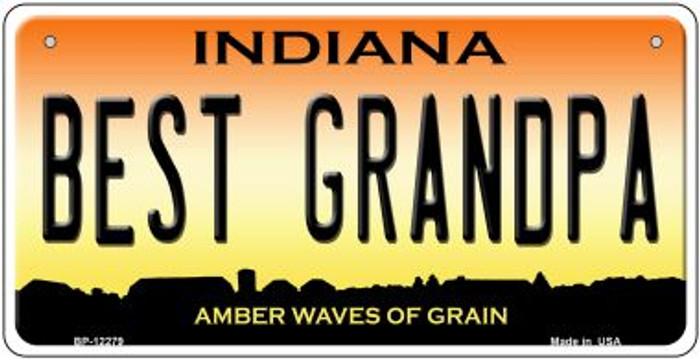 Best Grandpa Indiana Novelty Metal Bicycle Plate BP-12279