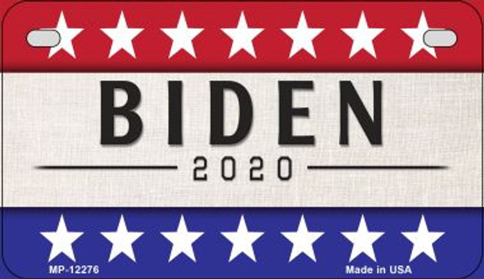 Biden 2020 Novelty Metal Motorcycle Plate MP-12276