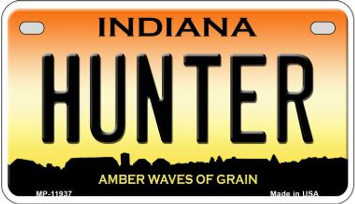 Hunter Indiana Novelty Metal Motorcycle Plate MP-11937