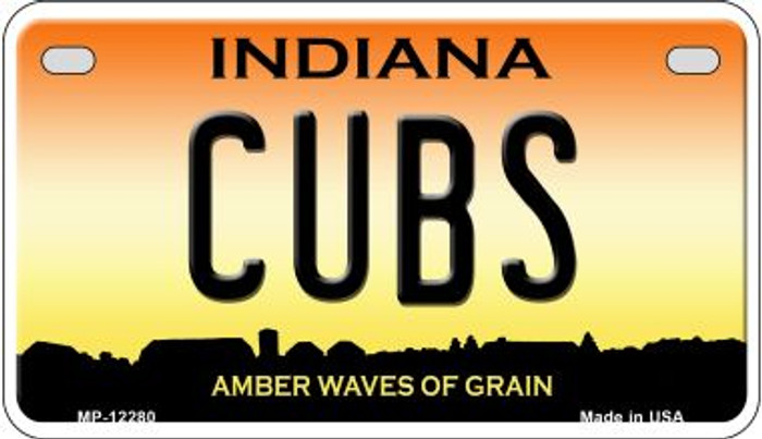 Cubs Indiana Novelty Metal Motorcycle Plate MP-12280