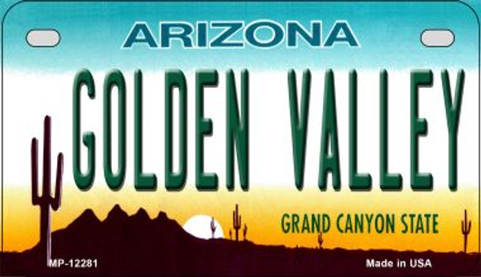 Golden Valley Arizona Novelty Metal Motorcycle Plate MP-12281
