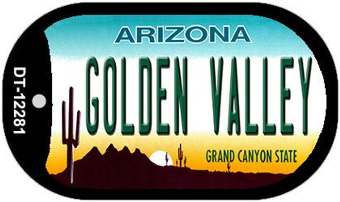 Golden Valley Arizona Novelty Metal Dog Tag Necklace DT-12281
