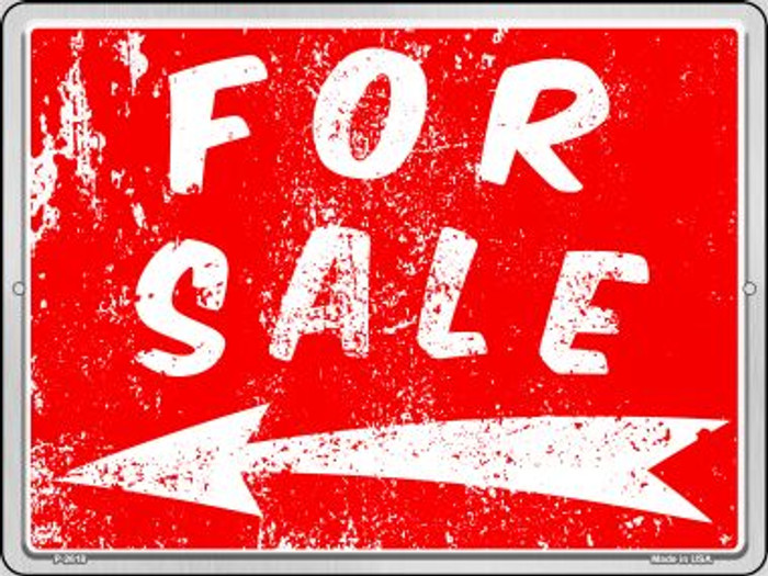 For Sale to the Left Novelty Metal Parking Sign P-2618