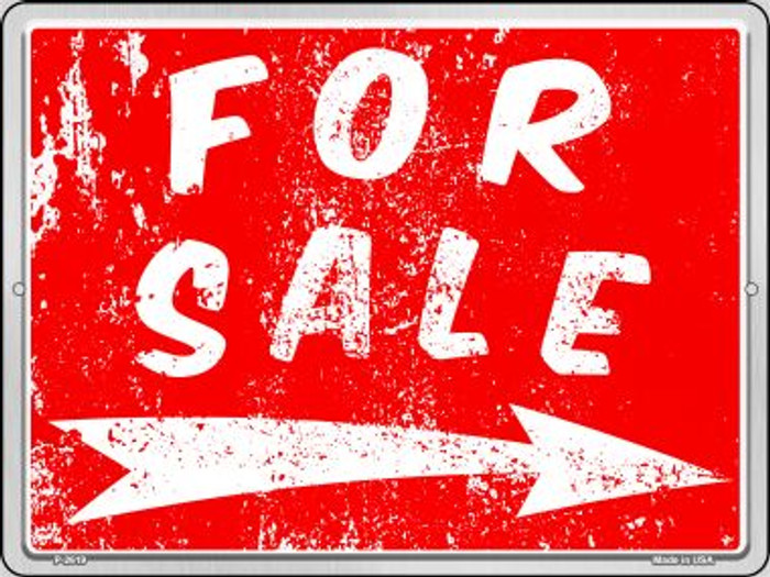 For Sale to the Right Novelty Metal Parking Sign P-2619
