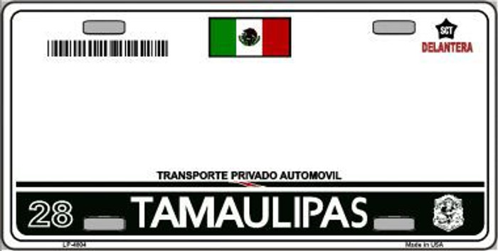 Tamaulipas Mexico Novelty Background Metal License Plate LP-4804