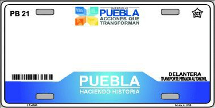 Puebla Mexico Novelty Background Metal License Plate LP-4806