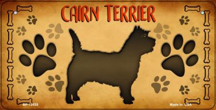 Cairn Terrier Novelty Metal Bicycle Plate BP-10435