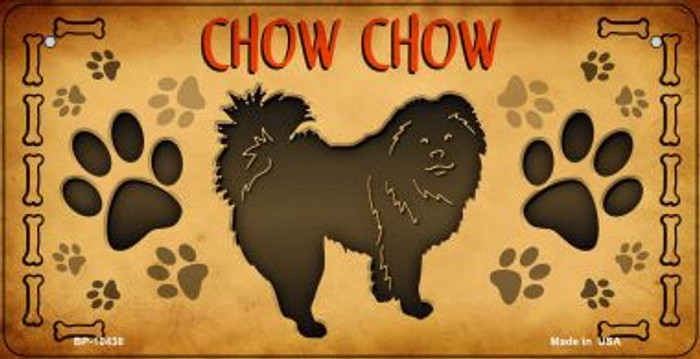 Chow Chow Novelty Metal Bicycle Plate BP-10438