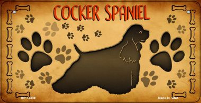 Cocker Spaniel Novelty Metal Bicycle Plate BP-10439
