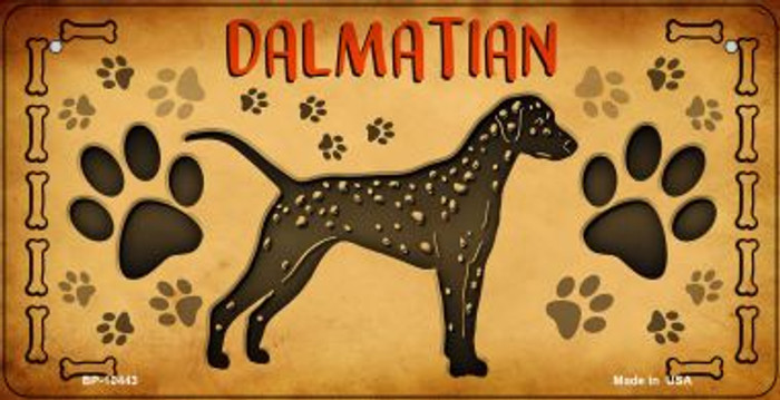 Dalmations Novelty Metal Bicycle Plate BP-10443