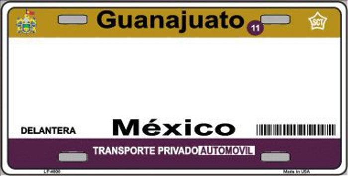 Guanajuato Mexico Novelty Background Metal License Plate LP-4808