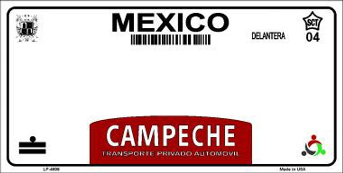 Campeche Mexico Novelty Background Metal License Plate LP-4809