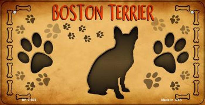 Boston Terrier Novelty Metal Bicycle Plate BP-11305