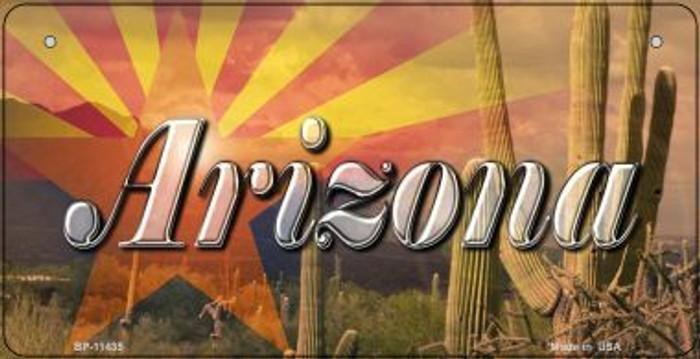 AZ Flag Arizona Cactus Novelty Metal Bicycle Plate BP-11435