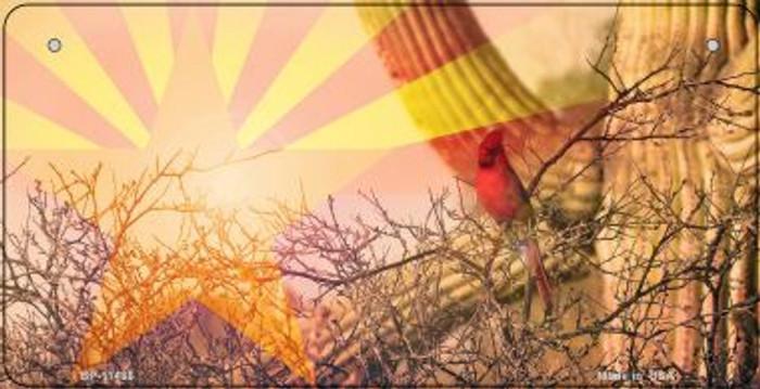 AZ Flag Cactus Cardinal Novelty Metal Bicycle Plate BP-11436
