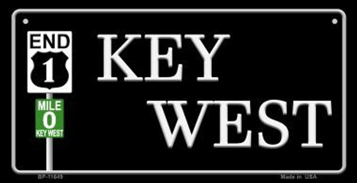 Key West Highway Sign Novelty Metal Bicycle Plate BP-11649