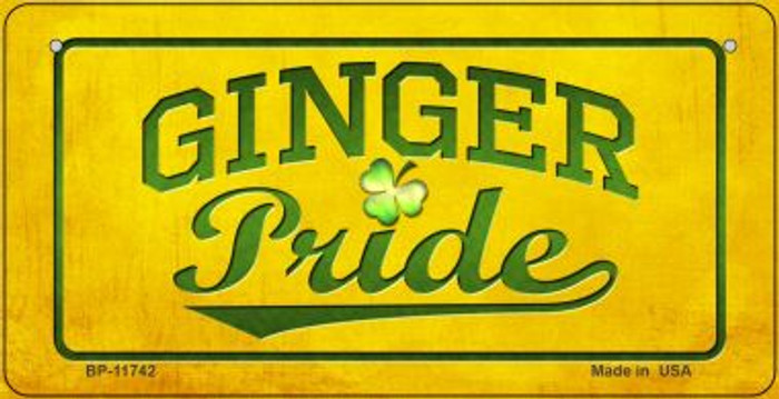 Ginger Pride Novelty Metal Bicycle Plate BP-11742