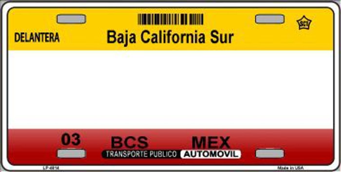 Baja California Sur Novelty Background Metal License Plate LP-4814