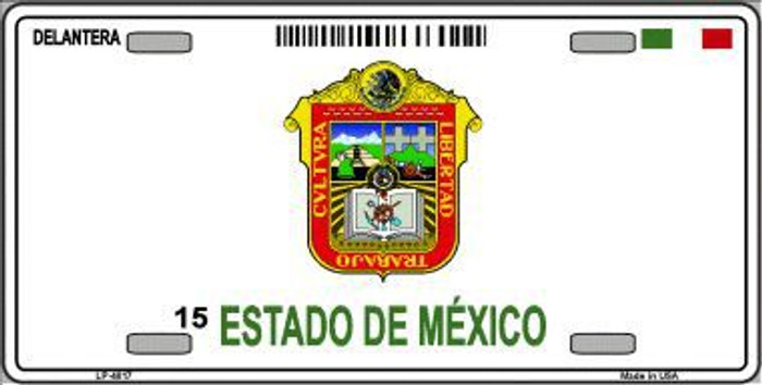 Estado De Mexico Novelty Background Metal License Plate LP-4817