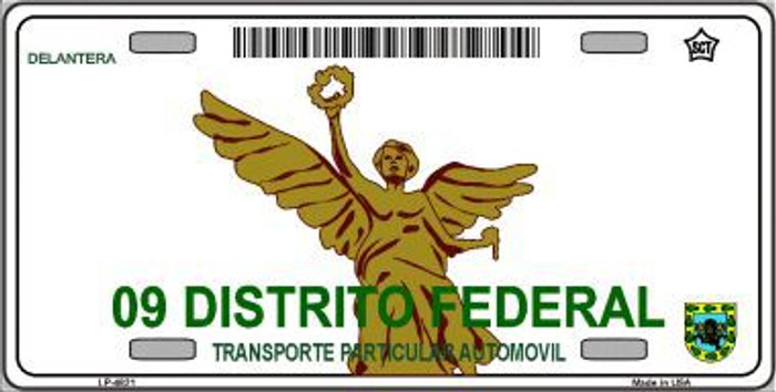Distrito Federal Mexico Novelty Background Metal License Plate LP-4821