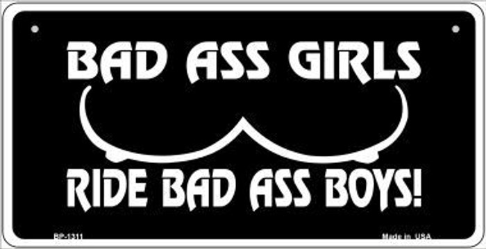 Bad Ass Girls Novelty Metal Bicycle Plate BP-1311