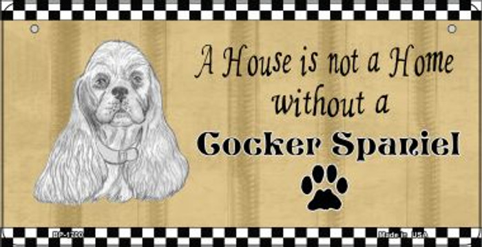 Cocker Spaniel Pencil Sketch Novelty Metal Bicycle Plate BP-1700