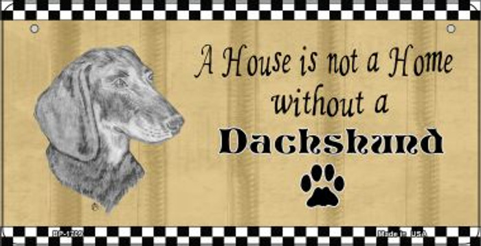 Dachshund Pencil Sketch Novelty Metal Bicycle Plate BP-1709
