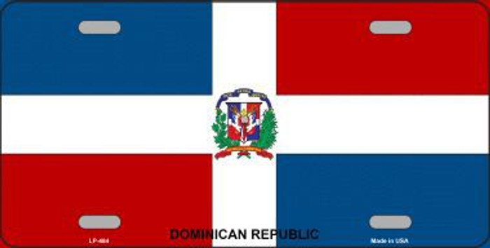 Dominican Republic Flag Metal Novelty License Plate LP-484
