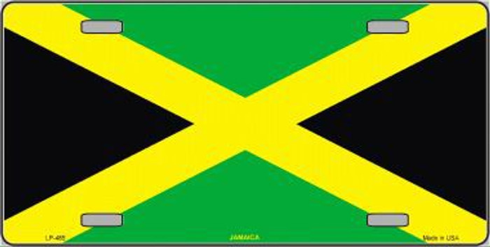 Jamaica Flag Metal Novelty License Plate LP-485