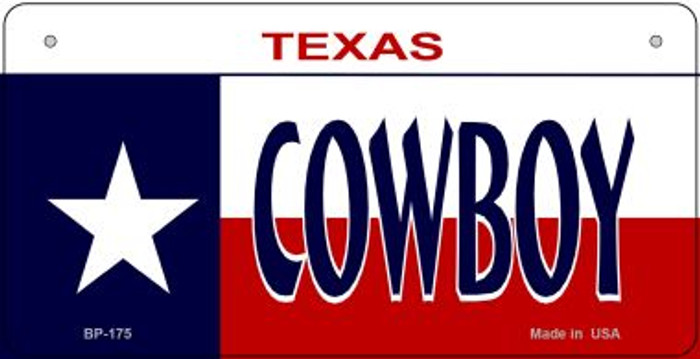 Cowboy Texas Novelty Metal Bicycle Plate BP-175