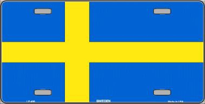Sweden Flag Metal Novelty License Plate LP-486