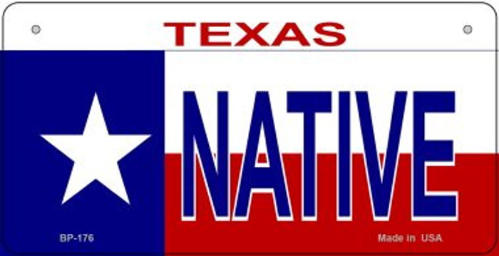 Native Texas Novelty Metal Bicycle Plate BP-176
