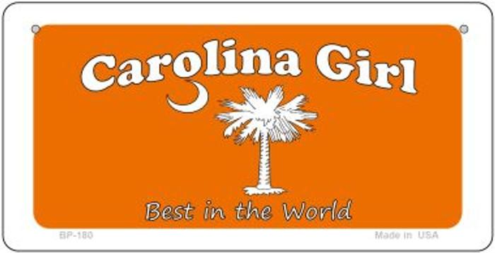 Carolina Girl Orange Novelty Metal Bicycle Plate BP-180